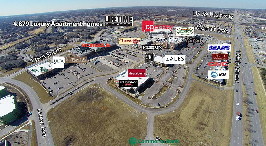 Aerial Map Corbin Park Retail Village In Overland Park KS - Latest Arial Map Us